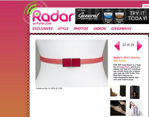 Radar Gift Guide with Keggy