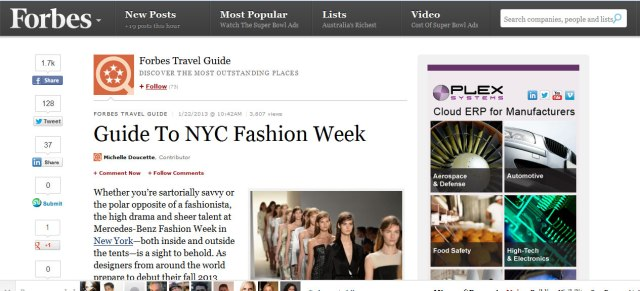 Forbes Guide to Fashion Week