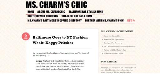 Ms. Charm's Chic Blog